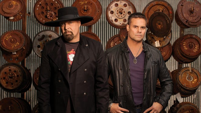 """Eddie Montgomery, left, and Troy Gentry of Montgomery Gentry. The duo released 11 albums, including a greatest hits package, andcharted at least five No. 1 songs, including """"Roll with Me"""" and """"Lucky Man."""""""