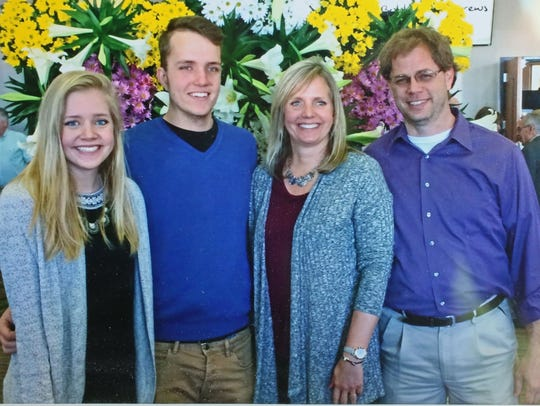 This family photo of the Tichelaars shows daughter Kendra (from left), son Zach and Joleen and Jay Tichelaar.