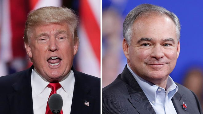 Donald Trump and Tim Kaine.