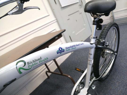 A new cruiser bicycle that soon can be rented from the Richland County Library.