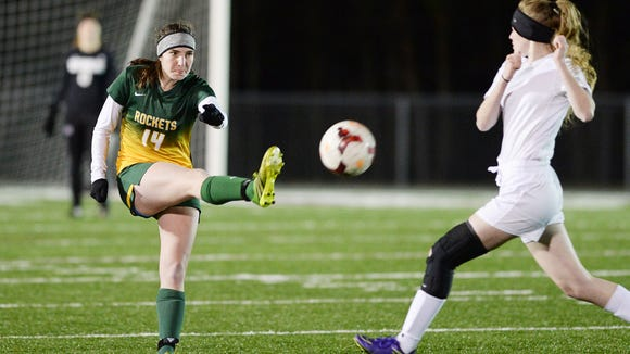 Reynolds senior Katie Kearns, left, has committed to play college soccer for Berry (Ga.).