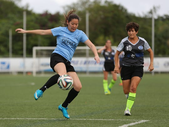 The Venue Sidekicks' Jennifer Shen attempts to clear