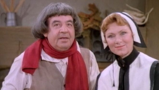 Tom Bosley and Marion Ross in the Happy Days episode, The First Thanksgiving