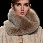 Fashion from the Badgley Mischka Fall 2014 collection is modeled during New York Fashion Week.