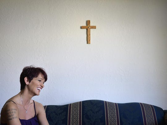 Kelly Doss talks about her continuing recovery from anorexia in the spring of 2015 at her St. Cloud apartment. Now, she leads a support group for people suffering from eating disorders.