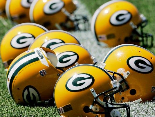 Packers helmets