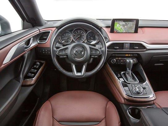 El interior del CX-9 supera ampliamente las expectativas