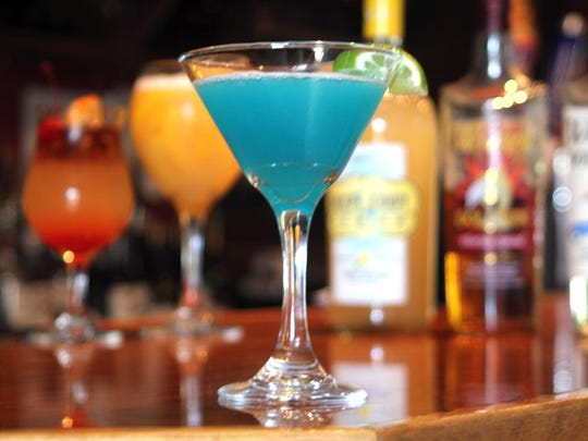 """""""Blue Lemonade"""" is basically a standalone lemonade-flavored vodka with a touch of blue curacao to sweeten it a touch."""