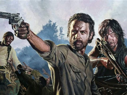 'Rick, Daryl and Tyreese' by Aaron Perry