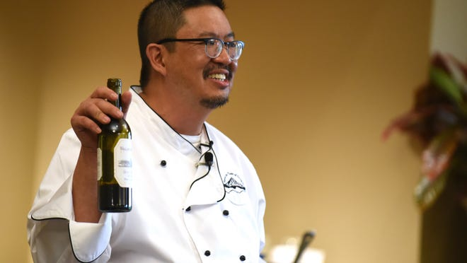 Victor Panichkul, Statesman Journal Food & Wine Columnist, leads a Taste of Oregon: Cooking with Wine class on May 22, 2015, at Roth's Fresh Markets in West Salem.