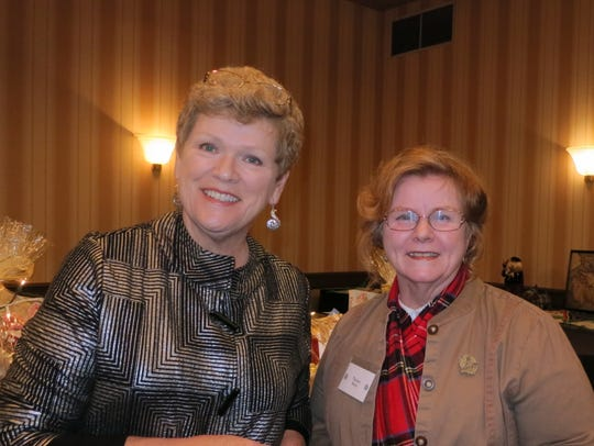 Diane Elrick of Redding (left) and Thelma Berry of
