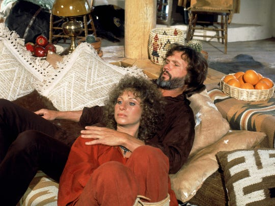 Barbra Streisand and Kris Kristofferson from the 1976