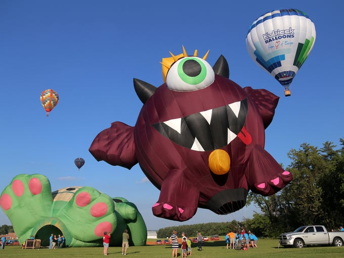 The first day of the Ashland Balloon Festival took