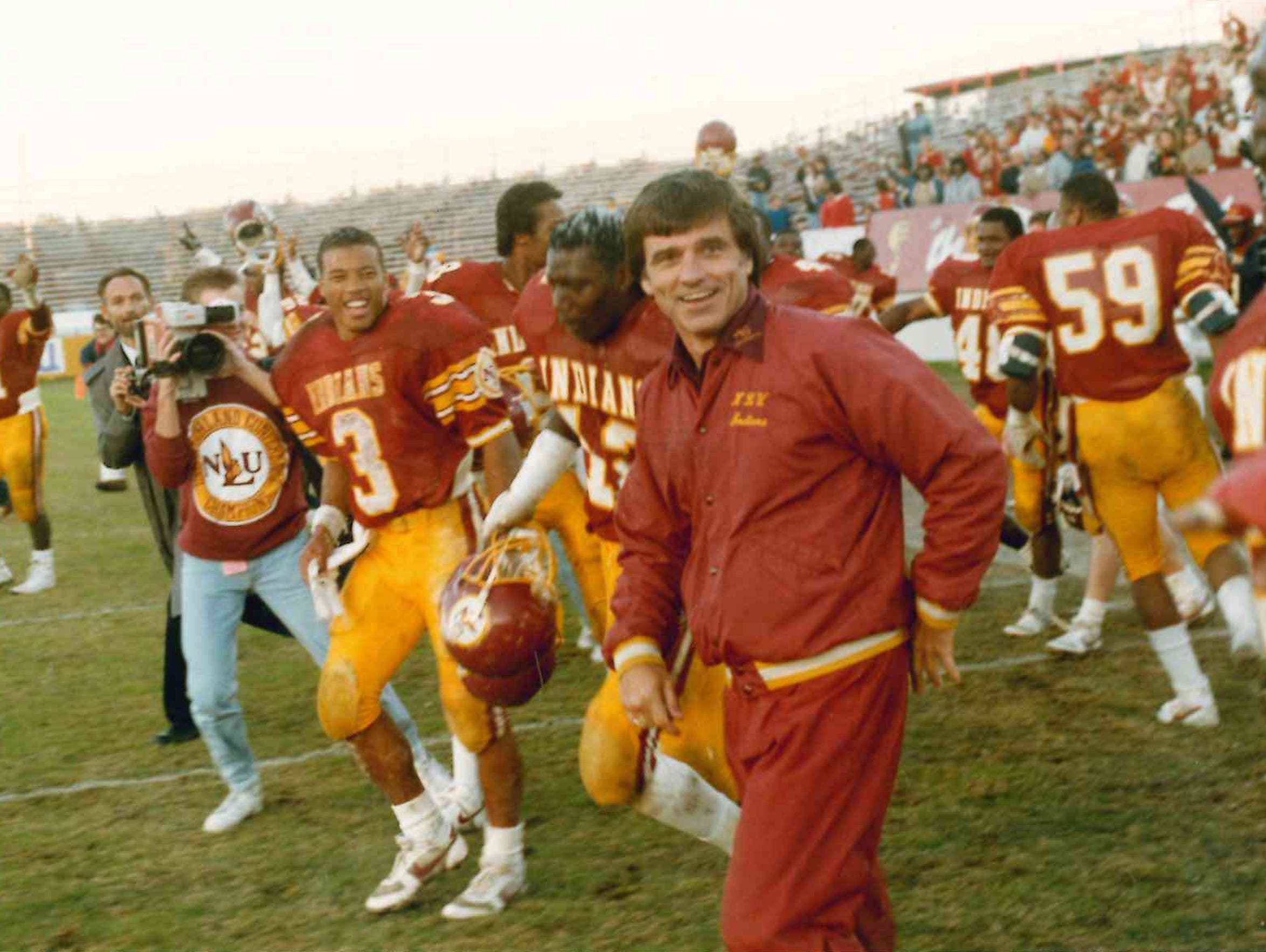 Pat Collins, the winningest coach in ULM history (57-35),