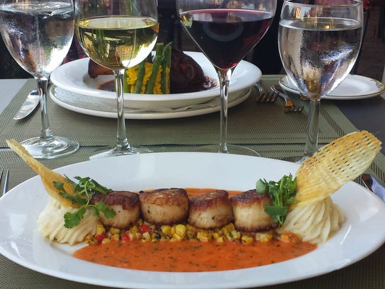 Scallops at the Grand Cafe.