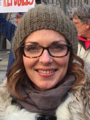Carrie Gilroy is a delegate for Bernie Sanders.