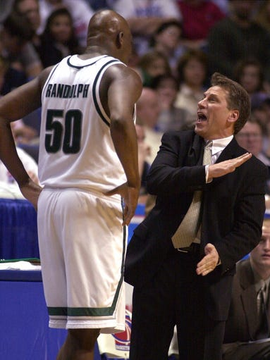 Michigan State coach Tom Izzo shouts instructions at
