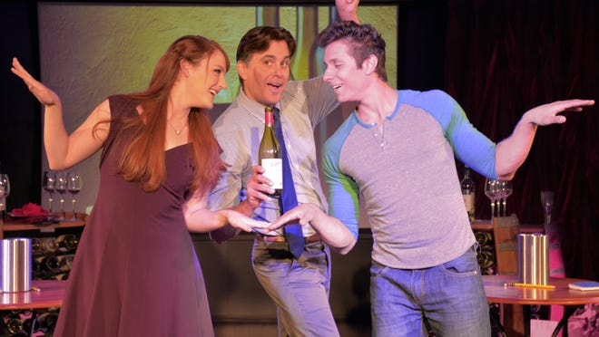 """Raise a glass with """"Wine Lovers: The Musical"""" as audience members enjoy some vino throughout the performance."""