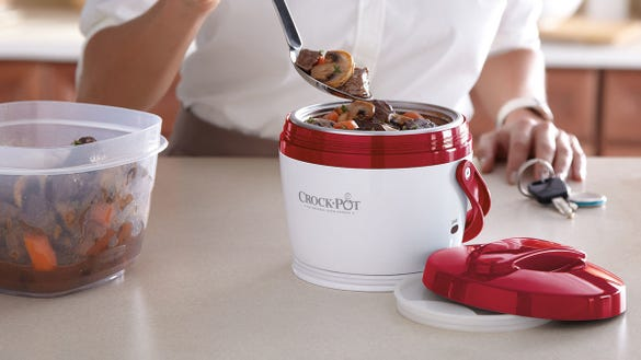 This portable Crock-Pot lets you enjoy a hot meal without