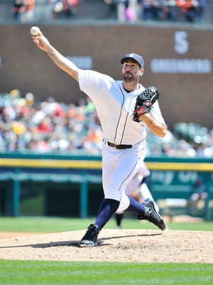 Justin Verlander works in the third inning Wednesday against the Twins.