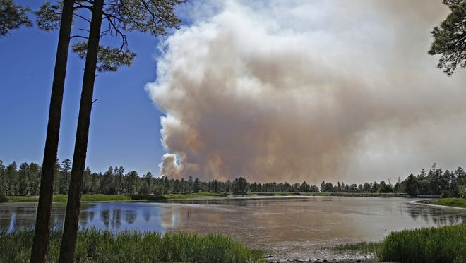 Northern Arizona was under a red-flag warning because of gusty winds and humidity, but the warning was canceled for Monday, according to weather officials.