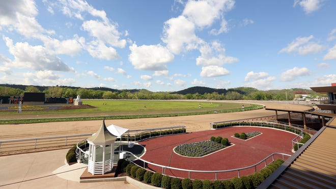 The race track at Belterra Park Gaming and Entertainment Center.