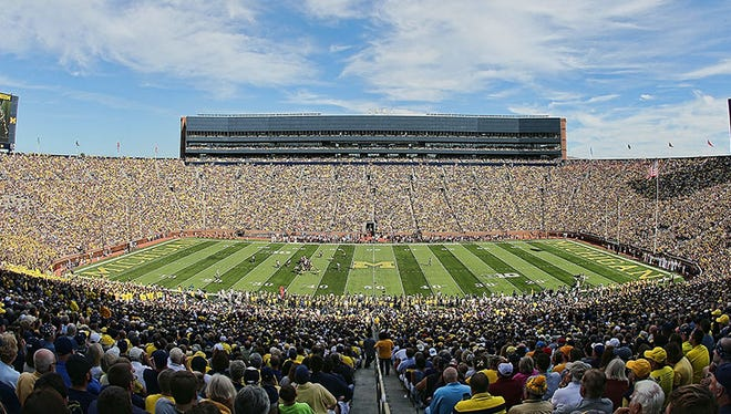 A look from high up at Michigan Stadium on Saturday.