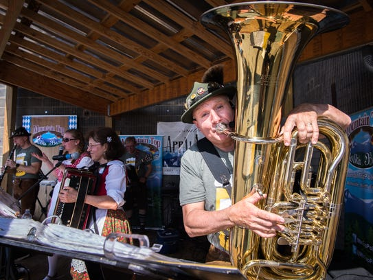 The Mountain Top Polka band performs at the 7th annual