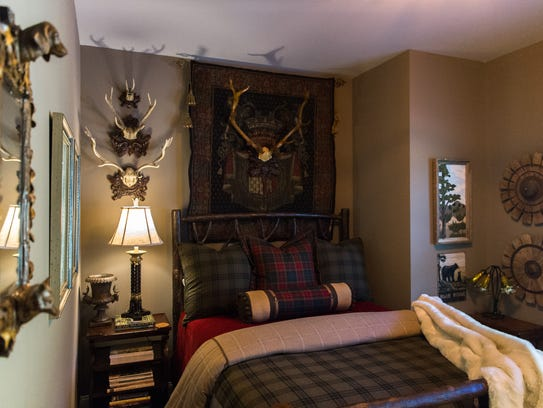 """One of the guest rooms called the """"Blue Ridge Room"""""""