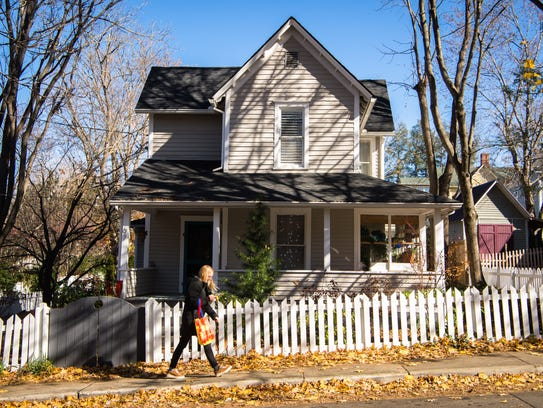 Kim and Olivier Rollin's Flint Street home in Asheville's