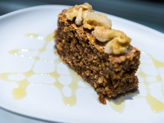 Walnut cake served at S&W Artisanal in the S&W Cafeteria