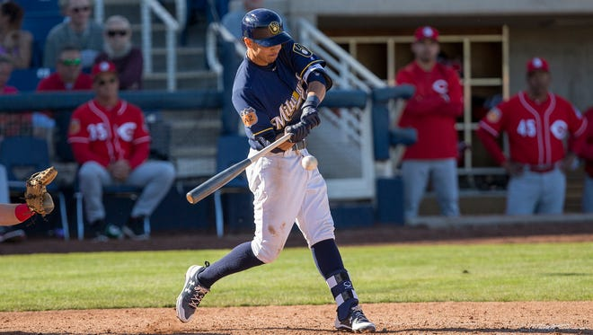 Shortstop Mauricio Dubon, a top prospect in the Milwaukee Brewers organization, came to the team from the Boston Red Sox in the Tyler Thorburg trade in 2016.