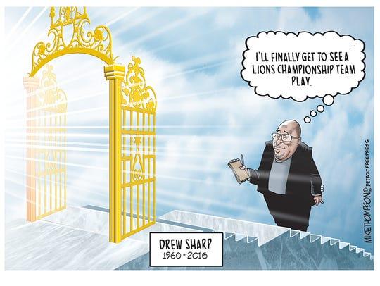 Honoring Detroit Free Press sports columnist Drew Sharp,