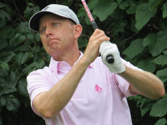 Pro Brian Gaffney of Essex Fells Country Club is tied for third following the second round of the 98th New Jersey Open golf championship at Montclair Golf Club in West Orange on Thursday, July 26.