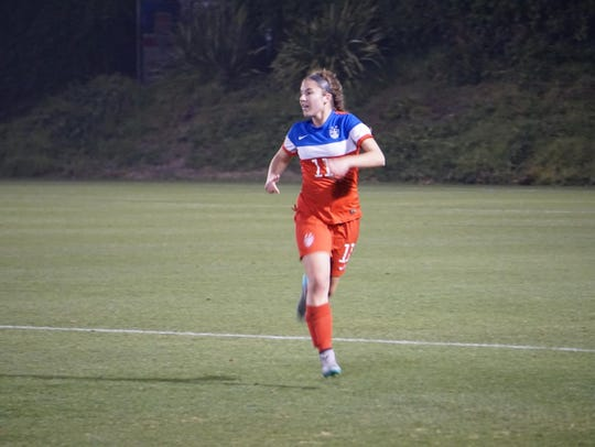 Izzy Rodriguez competes for the U.S. Under-17 Women's
