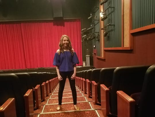 Ella Kleefisch prepares for rehearsal at the Elm Grove Sunset Playhouse. She has been named a Rising Star for Musical MainStage, a professional concert series at Sunset Playhouse in Elm Grove.