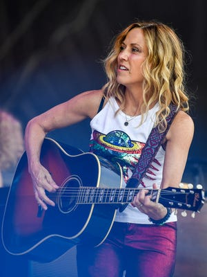Sheryl Crow performs during the 2018 Bonnaroo Music and Arts Festival in Manchester on June 8.