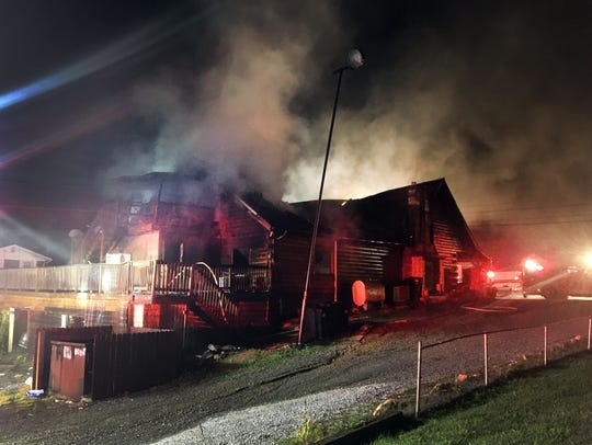 Fire at Greenville Grocery on Oct. 21.