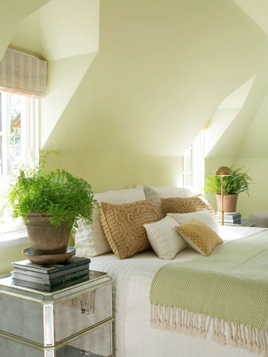 Paint ceilings the right way and think about color