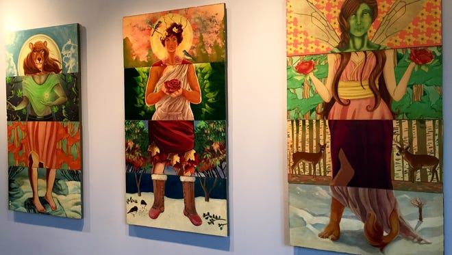"""Exquisite Corpse"" at Markeim Arts Center features dozens of pieces by a hundred artists, each rendering a portion of a body that is combined with others to create each work of art."