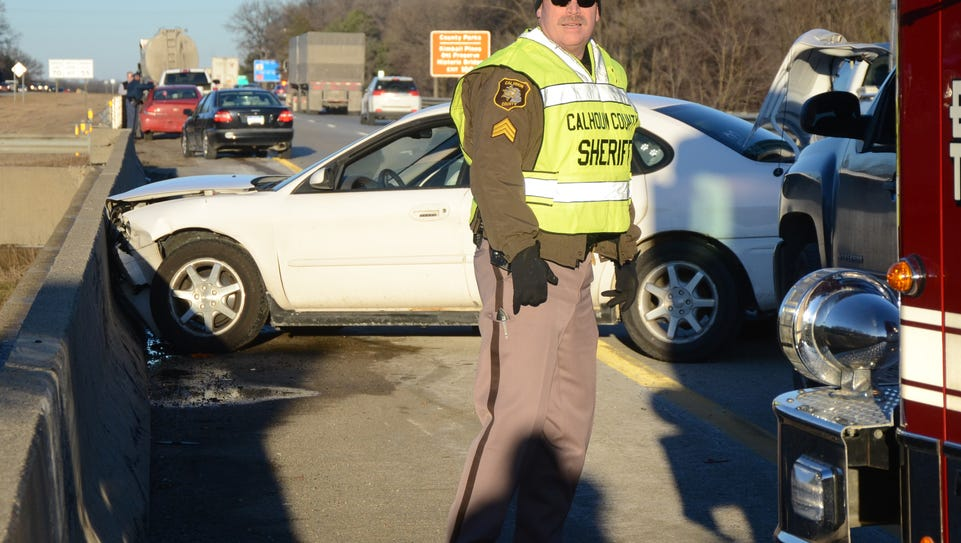Sgt. Chris Bacik, here working at a traffic crash on