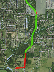 A partial view of the proposed Kansas Expressway extension south of Republic Road.