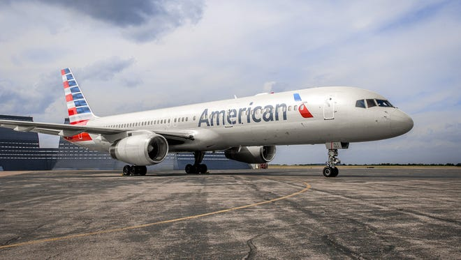 American Airlines shows off their Boeing 757 Winglet a mid-size, narrow-body twin-engine jet airliner.