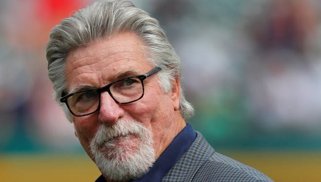 FILE - In this June 3, 2017, file photo, former Detroit Tigers pitcher Jack Morris watches a baseball game between the Tigers and the Chicago White Sox in Detroit. Former Tigers teammates Morris and Alan Trammell were elected to the baseball Hall of Fame on Sunday, Dec. 10, 2017, completing the journey from Motown to Cooperstown.