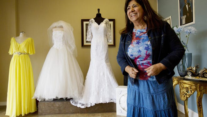 Rosie Perez, owner of Rosie's Tailoring in Estero is from Colombia and on the verge of getting her citizenship. She has lived in the United States for 16 years and left Colombia for safety reasons and to keep her sons from gang recruitment and guerilla warfare.