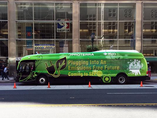 Proterra bus in Philadelphia