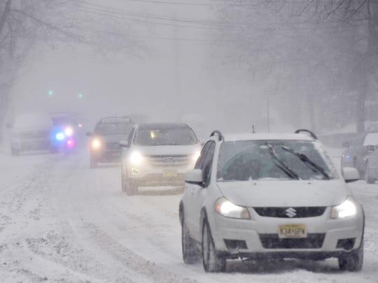 Near blizzard conditions in Cliffside Park.