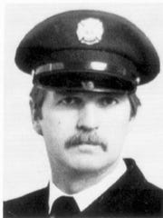 Indianapolis firefighter Ellwood M. Gelenius, 47, was killed in the February 1992 Indianapolis Athletic Club fire.