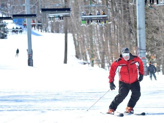 A skier at Granite Peak Ski Area.