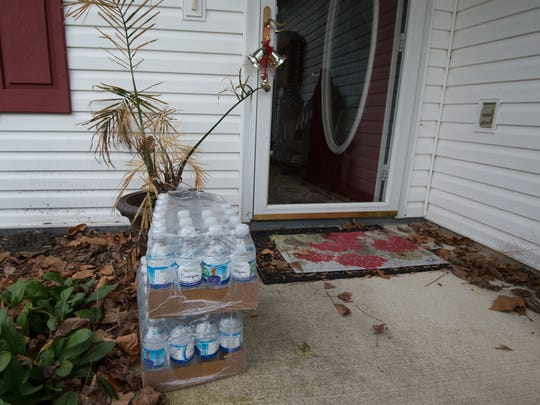 Mountaire Farms had drinking water and a water cooler delivered to the home of Bob and Jean Phillips near Millsboro after high levels of nitrates were found in their well.
